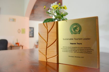Sustainable Tourism Leader: Recognition by Rainforest Alliance