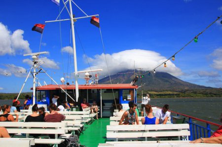 On the way to Isla de Ometepe
